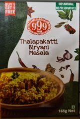 999Plus - Thalapakatti Biryani Masala 165gm - Buy 1 Get 1 Free