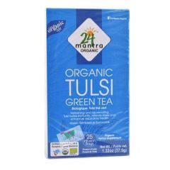 24 Organic Mantra Tulsi Green Tea Bags (25Bags)