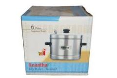 Anantha Stainless Steel 6 Plate Idly Cooker