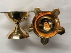 Brass Panchamuki Diyas Set