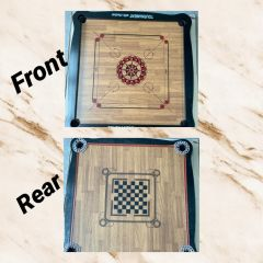 Carrom Board (42*42) and chess board print at the rear