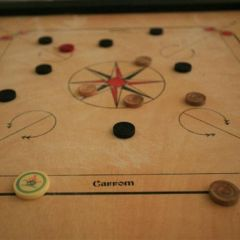 Carrom Board(36'' by 36'') - With coins and striker set plus powder