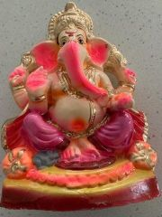 """Clay Ganesh Idol 8""""(water soluble) (mixed styles of Ganesh idols, the picture is one of that)"""
