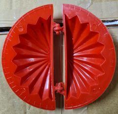 Gujiya Mould Plastic Red