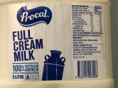 Procal Full Cream Milk 3 liters