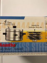 ANANTHA STAINLESS STEEL IDLY COOKER 4 PLATE