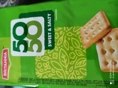 Britannia 50-50 Sweet & Salty value pack(6*62g) - Best Before May 21