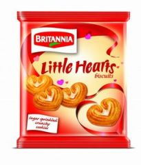 Britannia Little Hearts Biscuits 75g