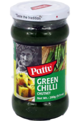 Pattu Green Chilli Chutney 280g