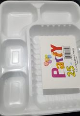5 compartment plates 25pieces