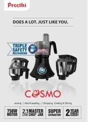 Preethi Cosmo 750W - 2.1lt Master Chef+ Jar - Australian Safety Plug