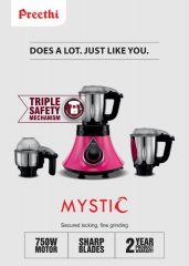 Preethi Mystic 750W - 3 Jar - Australian Safety Plug