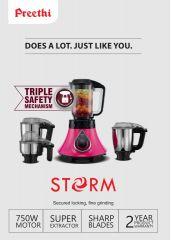 Preethi Storm 750W - 4 Jar - Australian Safety Plug