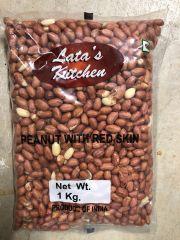 Lata's Kitchen Regular Red Peanuts with Skin 1kg